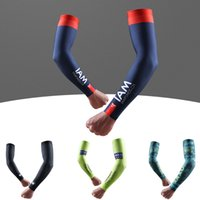 Wholesale Cycling Sky Arm Sleeves - 2017 New SKY BORA GCN SCOTT Pro Team Bike Arm Warmers Cycling Arm Warmers Bicycle Riding Arm Sleeves Outdoor Bike Sleeve Cover D1502