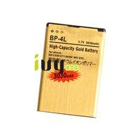 Wholesale E72 Battery - 3030mAh BP-4L Gold Replacement Battery For Nokia E61i E63 E90 E90i 6650F N97 N97i E95 E71 E71x E72 E73 E75 E52 E55 N810 Batteries Batteria