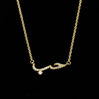 Wholesale Custom Gold Necklaces - Wholesale 10Pcs lot 2017 New Promotion Handmade Custom Arabic Jewelry Pendant Crystal CZ Arabic Love Gold Chains Choker Necklaces For Women