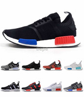 Wholesale Mens Kicks - With Box 2016 New NMD Runner Primeknit Mens Running Shoes Fashion Running Sneakers for Men and Women Nice Kicks Men shoes Size 36-46