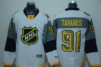 New York Islanders NHL jerseys 2015 2016 all star game jockey barato TAVARES # 91 branco 1pcs freeshipping