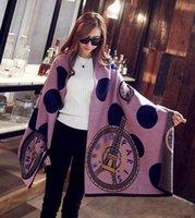 Wholesale Eiffel Tower Scarves - 2016 women autumn winter fashion brand designer wool cashmere shawl scarves designer pashmina Paris Eiffel Tower scarf