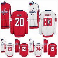 Wholesale Lars Eller Jersey - Lars Eller Jersey 20 Jay Beagle 83 John Carlson 74 Nicklas Backstrom 19 Andre Burakovsky 65 Hockey Jerseys Washington Capitals Stitched S-3X