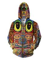 panda hoodies sweatshirt toptan satış-Toptan Satış - Toptan-Panda Galaxy Uzay 3D Baskılı Hayvan Tişörtü Kış Sonbahar Stil Sweats Spor Jumper Unisex Erkekler Hoodies İçin Tops
