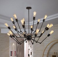 Wholesale Adjustable Switching - Adjustable Spyder Chandelier Vintage Edison Light Ceiling Pendant Light Retro Style Lighting Fixture 6 8 12 18 Heads #16