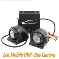 2CH Mobile DVR Bus Veículo carro DVR Gravador de Vídeo com I / O Alarme Detecção de Movimento Máx. 128GB Card com 2pcs camera + cable ann