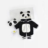 Wholesale Super Cute Coats - INS Hot Baby Kids Clothing Super Cute Boys Girls Panda Coats Street Fashion Kids Outwear Zipper Nap Hooded Cardigans Ins Child Jackets 9553