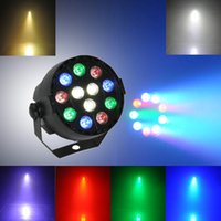 Wholesale Lasers For Stage Lighting - 1W RGBW RGB 12-LED Stage Light Par 8CH DMX-512 Lighting Laser Projector DJ Equipments Controller for Party Club Disco