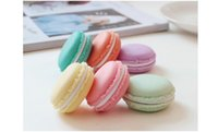 Wholesale Mini Gift Jewelry Case Organizer - Candy Color Mini Macaroon Gift Box Cosmetic Case Storage Boxes Makeup Organizer Empty Plastic Cosmetic Container WA0048