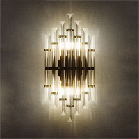 Wholesale Post modern creative crystal wall lamp personalized bedroom bedside background aisle lights