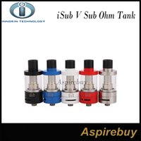 Wholesale Large Pyrex - Innokin iSub V Sub-Ohm Tank Quick & Clean Top-Fill Large 3.0 ML Pyrex Glass Tank Removable Drip Tip fit for Coolfire IV TC100 Mod DHL Free