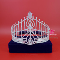 Wholesale Hong Kong Wholesales - Rhinestone Crown Tiara Miss Hong Kong Beauty Pageant Queen Crown Bridal Wedding Princess Party Prom Night Clup Show Crystal Headband Mo090