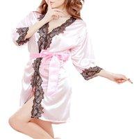 Wholesale Women Sexy Bathrobe - Wholesale-Modern 2015 New Women Fashion Lace Bathrobe Pure Role-playing Sexy Lingerie Wild Temptation May14