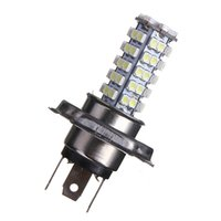 Wholesale 68 Smd 3528 Headlight - Hot Sale H4 68 LED 3528 1210 SMD Pure White Car Auto Light Source Headlight Fog Driving Lamp Bulb DC12V order<$18no track