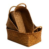 Wholesale Bamboo Picnic - Wholesale - Bamboo Weaving Storage Basket Fruit Rattan Storage Box For Cosmetics food picnic basket Handiwork Fashion kitchen accessories