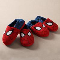 erkek kış terlikleri toptan satış-Toptan-Ihracat Yeni çocuk Örümcek Evi Terlik Ayakkabı için bebeğin Erkek Kız Ev Pamuk Ayakkabı Sıcak Kış Çizmeler 2016 çizmeler