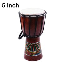 Wholesale African Paints - Djembe Drummer Percussion 5 inch Classic Painting Wooden African Style Hand Drum For Sale membranophone
