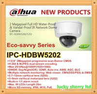 Dahua Eco-savvy Series IPC-HDBW5202 CCTV Network IR Dome Camera 3 ~ 9mm varifocal motorizado 2MP 1920x1080 30 fps Full HD CMOS SD Memory