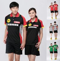 Wholesale jersey badminton new - Free shipping NEW 2017 Polyester quick-drying Table tennis sport shorts,Table tennis shirts jersey,Badminton sport wear t-shirt M-4XL
