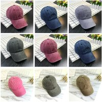 Wholesale Washed Denim Caps - Wholesale new fashion baseball caps couple hip hop denim fabric washed his-and-hers for women Light plate bent eaves adjustable outdoor hats