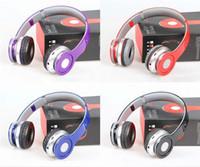 Wholesale Earphones Bluetooth Radio - Wireless Bluetooth Headset Deep Bass Stereo Headphone Noise Cancelling With Mic For TF Card FM Radio Earphone