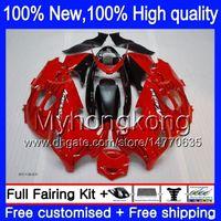 Wholesale Suzuki Gsxf Fairings - GSX750F Bodywork For SUZUKI KATANA GSXF750 GSXF600 03 04 05 06 07 7HM10 GSX600F GSXF 600 750 2003 2004 2005 2006 2007 Glossy red Fairing kit