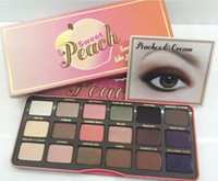 como kits al por mayor-Paleta de maquillaje Sweet Peach Glow 18 Color Blush Powder Blusher Marcas Sombra de ojos Cara Mske UP Kits cosméticos huele a melocotones compras gratis
