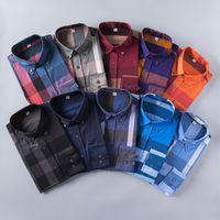 Wholesale korean new design shirt - Wholesale 2017 New Spring Men Shirt Lattice Design Korean Style Casual Mens Plaid Shirts Man Long Sleeve 100% cotton dress men shirts S-XXL