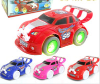 Wholesale toy car s for sale - Group buy Cool car racing toys four wheeled lights light emitting music children s electric toy car