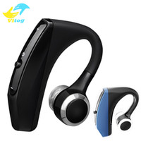 Wholesale headphone wireless noise cancelling mic resale online - V12 Business Bluetooth Headset Wireless Handsfree Office Bluetooth Earphones Headphones with Mic Voice Control Noise Cancelling
