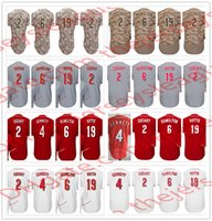Wholesale Brown Scooters - Cincinnati Hot Baseball Jerseys Stitched White Home Gray Road Cream Red #2 Zack Cozart 4 Scooter Gennett 6 Billy Hamilton 19 Joey Votto