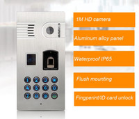 Wholesale Ids Ip - free shipping waterproof wifi IP video door phone with fingerprint  code ID card unlocking