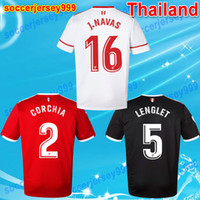 Chandal de futbol 17 18 Sevilla Inicio Soccer Jerseys 2017 2018 NAVAS CORCHIA LENGLET Top Thai Quality Football Shirts Men's Short Sleeve Sports Wears Uniforms