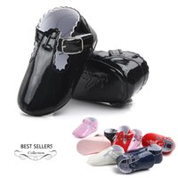 Wholesale Cute Shoes For Toddler Girls - Fashion Toddler Girls PU Shoes New Baby First Walker Shoes Cute Bowknot Infant Girl Soft Bottom Shoes 7 Colors For Choose A7296