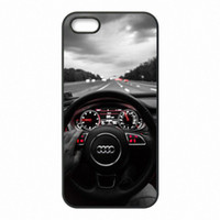 Wholesale Audi Apple - Design Audi Logo Phone Covers Shells Hard Plastic Cases for iPhone 4 4S 5 5S SE 5C 6 6S 7 Plus ipod touch 4 5 6
