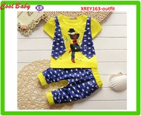 Estate Star Design Vest Tshirt + Star Design Pant breve vestito casuale sicuro cotone Set per i ragazzi freddi 0-5years 6sets nave libera XERY163
