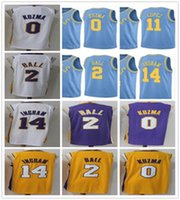 Wholesale Brook S - 2018 New Season 2 Lonzo Ball Jersey MPLS. Blue Yellow Purple White 0 Kyle Kuzma 14 Brandon Ingram Jerseys 11 Brook Lopez Stitched