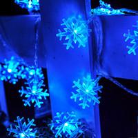 Wholesale Holidays Lights Curtain - 2016 Hot Selling 2M 20LED Christmas lights snowflake lamp holiday lightingwedding party decoration curtain string lights