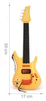 Wholesale Toy String Instruments - toy for children 4 strings Mini instrument simulation guitar children educational early childhood toys can play the guitar