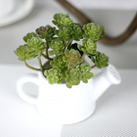 Wholesale High end simulation succulent houseplant PVC wall wedding home decoration artificial flowers potted plants Christmas decoration K16174