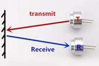 Wholesale Ultrasonic Transceiver - 10pairs LOT 16mm ultrasonic waterproof type split 40khz sensor transceiver rangefinding single cba3 A pair