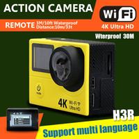 Wholesale Sports Hd Waterproof Dv Camera - Original H3R 4K Action Camera + Wifi + 2.4G Remote Control Dual Screen Hero 4 Style 30M Waterproof Sport DV DVR Camcorder
