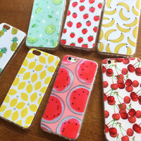 Wholesale banana phone cover for sale - Phone Case For Iphone s plus plus s Soft TPU Silicon Case Cover Watermelon Banana Pineapple Fruit Shell