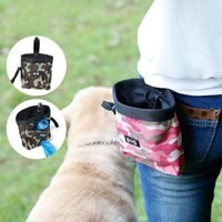 Wholesale camouflage dog bag online - Dogs Treat Pouch For Training Multi Function Walk A Dog Pocket Pet Garbage Bag Double Color Camouflage Outdoor Essential dr R