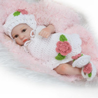 poupée pleine de femme achat en gros de-10 pouces réaliste bébé nouveau-né poupées réalistes plein vinyle Bonecas Bebe Reborn De Silicone Jouets Bébés Douche Cadeau pour les Femmes