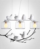 Wholesale Deco Birds - 2016 new arrivals genuine LED pendant lights vintage bird duck livingroom coffee house LED glass pendnant light Top novelty Indoor Lights