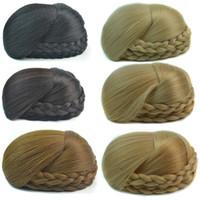 Wholesale chignon for sale - Group buy Sara Chignon Hair Bun CM Braid Plait Chignons Hepburn Hairpiece Clip in on Bride Buns Synthetic Hair pieces Hairpiece Toupee
