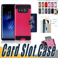 Wholesale S3 Defender Cases - 2 In 1 Hybrid Defender Armor Case Dual Layered Anti-Shock Card Slot Back Cover For Samsung S3 S4 S5 S6 Edge Plus G7200 G530 G355 G350E G5308