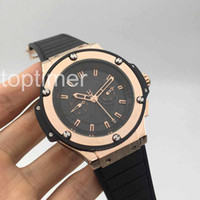 Wholesale Round Glass Cover - Luxury Brand Mens Automatic Watch Mechanical bigs Watch F1 Sport Wristwatch bang_ing Formula TG Watches relojes Transparent cover