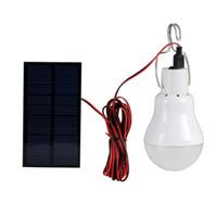 bombillas usadas al por mayor-Sistema de iluminación led de energía solar para exteriores / interiores Lámpara de luz LED Bombilla Panel solar Viajes de campo de baja potencia utilizados Iluminación de jardín 15W